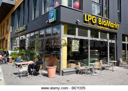 germany berlin prenzlauer berg organic food bio market sign stock photo royalty free image. Black Bedroom Furniture Sets. Home Design Ideas