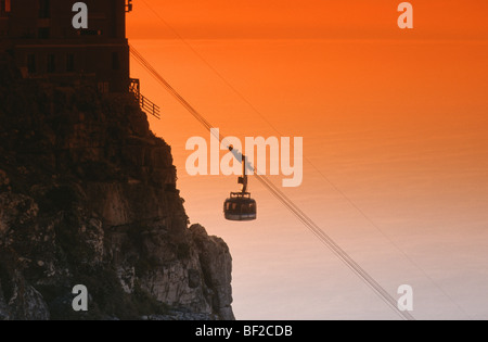 Cable Car, Table Mountain, Cape Town, Western Cape Province, South Africa - Stock Photo