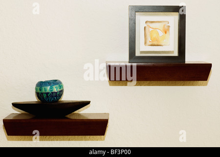 Showpieces And Paintings In A Living Room   Stock Photo