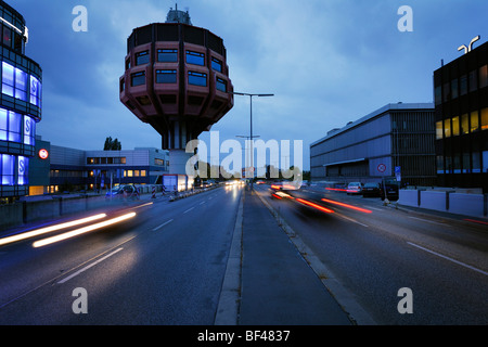 Berlin. Germany. Bierpinsel, unusual 1970's bar & restaurant building in Stegliz. - Stock Photo
