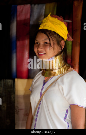 Lahu Shi Balah Hill Tribe Thailand - Thai hilltribe- Karen long necks Thaton, Ecotourisim Village in Chiang Mai, - Stock Photo