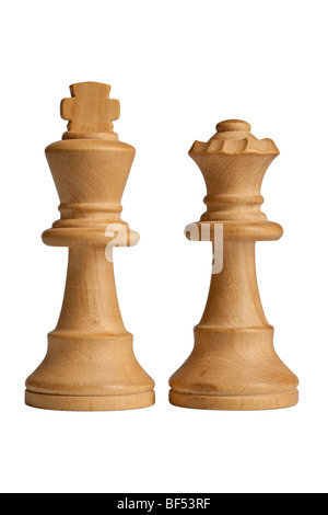 King & Queen Chess Pieces - Stock Photo