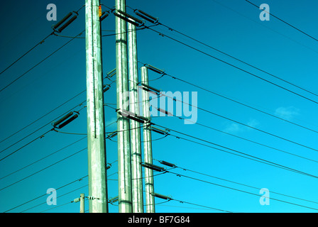 High Voltage wires - Stock Photo
