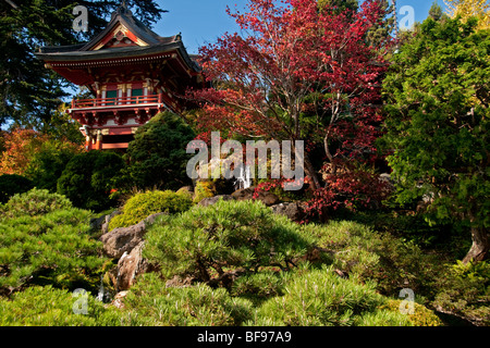 Fall color with waterfall in japanese gardens portland oregon stock photo royalty free image for Portland japanese garden free day