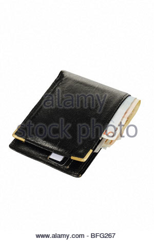 Wallet with euro currency - Stock Photo