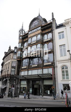 Brussels Belgium Art Nouveau Old England Building Rue Montagne De Stock Ph