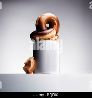 coffee and doughnuts - Stock Photo