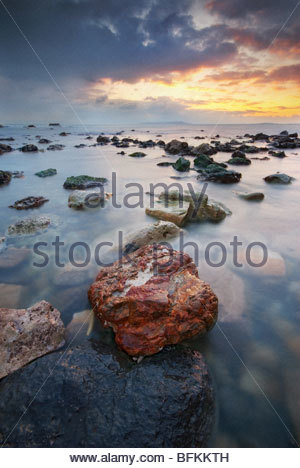 Beauty dawn at Durdle Door, Isle of Purbeck, Dorset. - Stock Photo