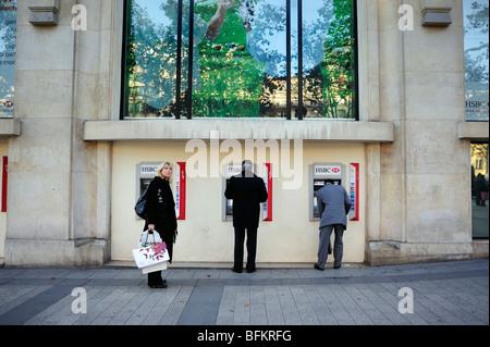 Paris, France, Commercial Architecture, HSBC Bank Corporate Headquarters Buildings, Front, Facade, Avenue Champs ELysees