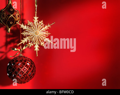 Beautiful Christmas decoration artistic still life background - Stock Photo