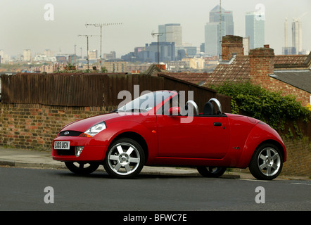 car ford street ka convertible model year 2002 silver view in stock photo royalty free. Black Bedroom Furniture Sets. Home Design Ideas