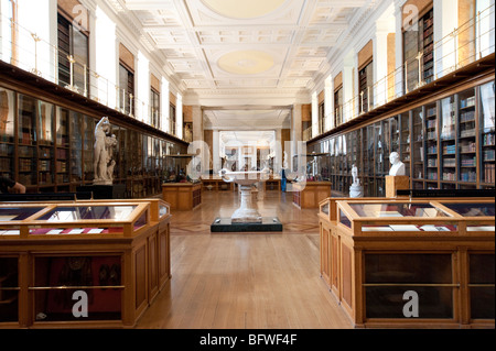 The Enlightenment Room of the British Museum, London, England, UK - Stock Photo