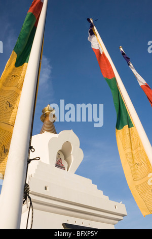 Benalmadena Pueblo, Costa del Sol ,Malaga Province, Spain. The Enlightenment Stupa. - Stock Photo
