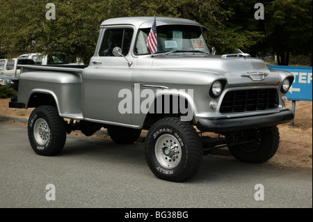 1955 Chevrolet 3100 350 V8 On Show At The North West Muscle Car Show Stock Photo Royalty Free