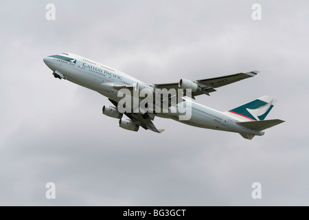 Cathay Pacific Airways Boeing 747-400 - Stock Photo