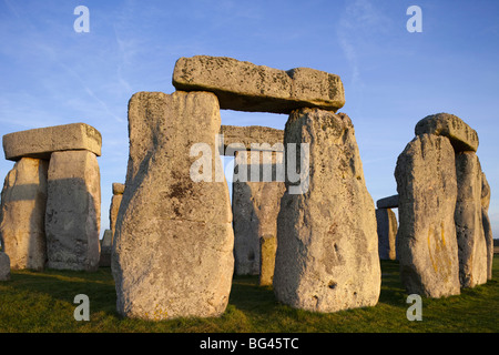 England, Wiltshire, Stonehenge - Stock Photo