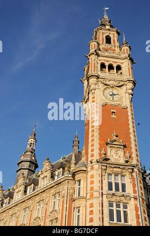 Lille, Pas de Calais, France. Town Hall / Hotel de Ville - Stock Photo
