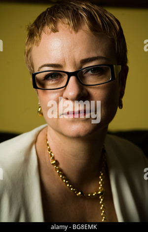 Montgomery McFate, a cultural anthropologist, applies her knowledge to issues of national security through work - Stock Photo