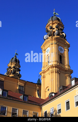 Theatine Church (Theatinerkirche), Munich, Bavaria, Germany - Stock Photo