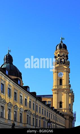 Theatine Church (Theatinerkirche), Munich, Bavaria, Germany - Stock Photo
