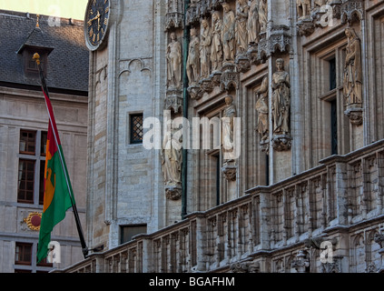 Close-up of City Hall building in Brussels - Stock Photo