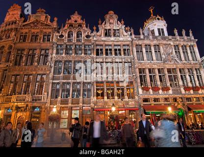 Grand Place Square, Brussels, Belgium - Stock Photo