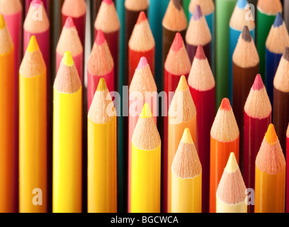 Close up of colored pencils - Stock Photo