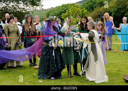 Pagan Handfasting Wedding Ceremony in Wales, UK