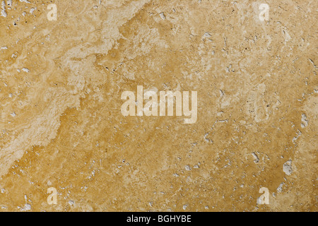 Travertine Stone Floor Tile Abstract Background Closeup - Stock Photo