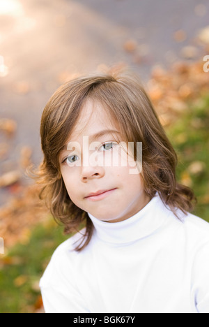 head and shoulders photo of boy - Stock Photo