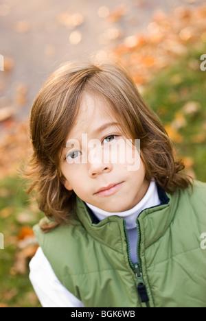 portrait of serious boy - Stock Photo