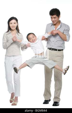 Portrait of a family of three - Stock Photo