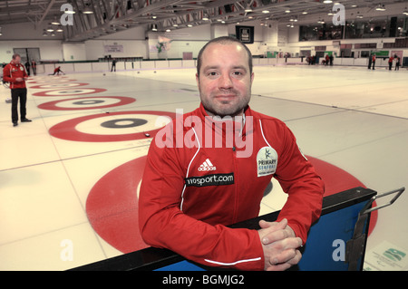Euan Byers Team GB Men's Curling Team for Vancouver Winter Olympics 2010. - Stock Photo