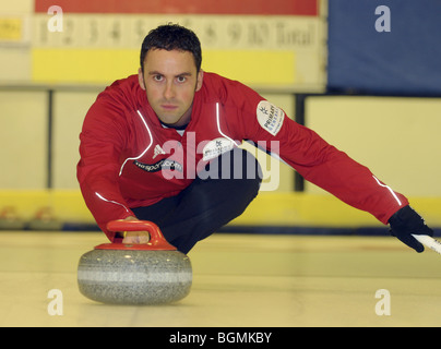 David Murdoch Team GB Men's Curling Team for Vancouver Winter Olympics 2010. - Stock Photo