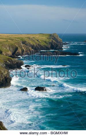 The Lizard Peninsula, Cornwall, England. - Stock Photo