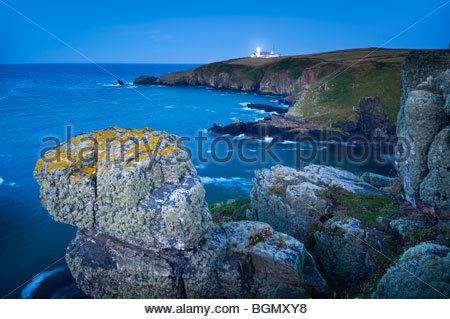 The Lizard lighthouse, Cornwall, England. - Stock Photo