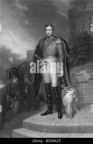 Portrait engraving print c1847 of Prince Albert of Saxe-Coburg and Gotha (1819 - 1861), husband of Queen Victoria. - Stock Photo