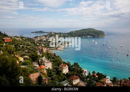 View of Villefranche sur Mer, Cote d'Azur, Alpes Maritimes, Provence, France. - Stockfoto
