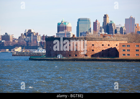 Castle Clinton Battery Park, Lower Manhattan, New York City - Stock Photo