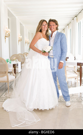 portrait bride and groom - Stock Photo
