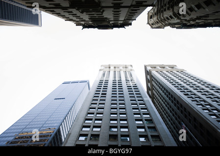 Skyscrapers side by side, low angle view - Stock Photo