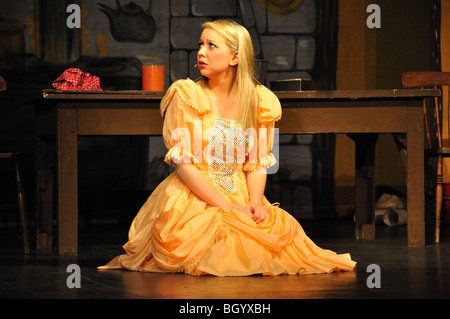 Cinderella on stage, Cinderella Christmas pantomime, Hounslow, Greater London, England, United Kingdom - Stock Photo