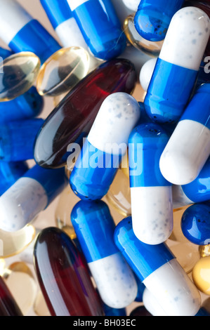 macro of medical pills - Stock Photo