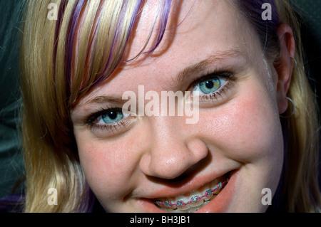 teenage girl in melbourne victoria australia - Stockfoto