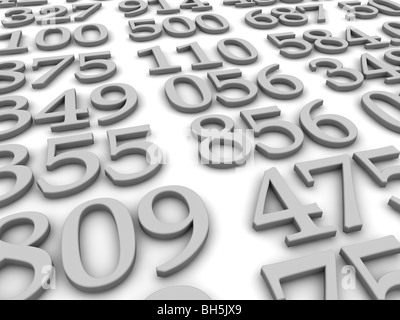 Black and white numbers background - Stock Photo
