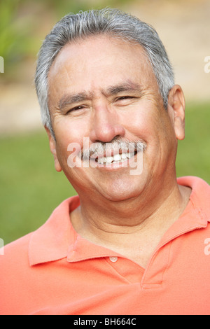 Portrait Of Smiling Senior Man - Stock Photo