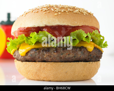 Tasty Beefburger - Stock Photo