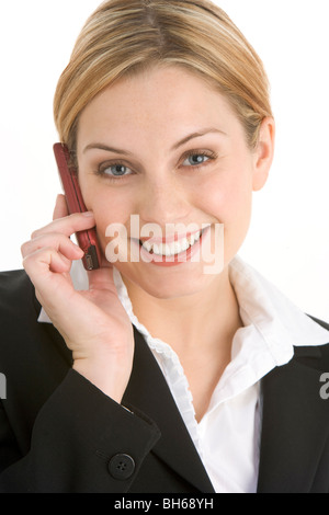 Young Businesswoman Using Mobile Phone - Stockfoto