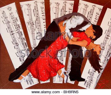 Tango Buenos Aires Argentina La Boca El Caminito Tango Dance Dancing - Stockfoto