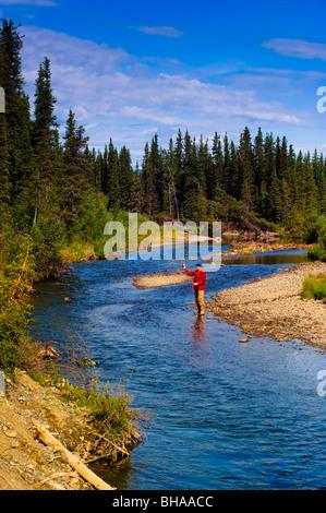 Man fly fishing for grayling jack creek wrangell saint for Elias v fishing